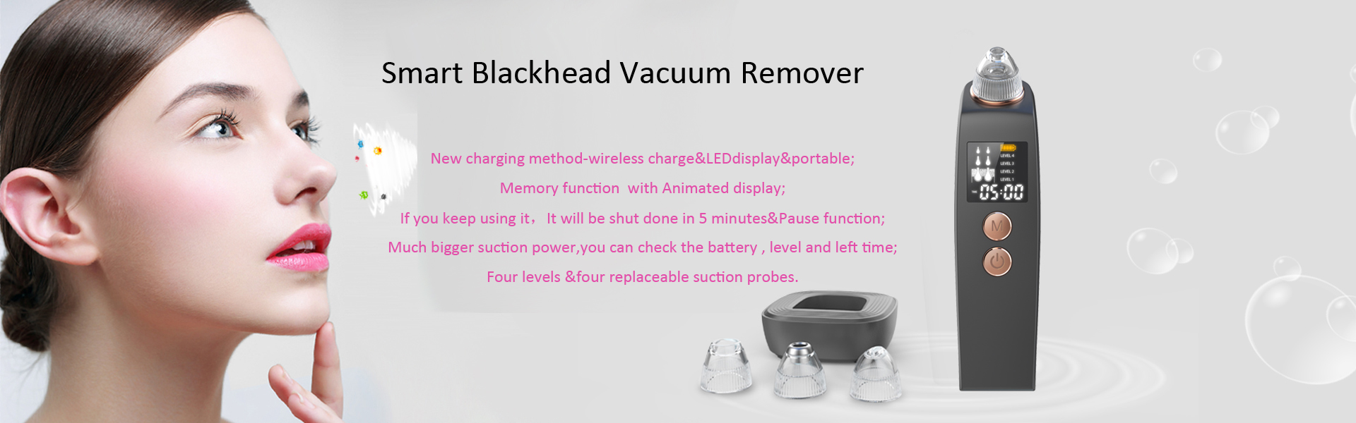Smart blackhead vacuum remover
